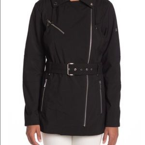 MICHAEL Michael Kors Short Asymmetrical Trench